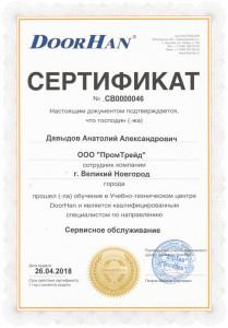 """Давыдов А.А. - обучение """"Сервисное обслуживание"""" ДорХан 2018"""