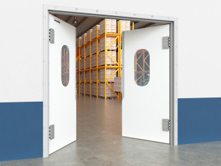 Технологические маятниковые двери