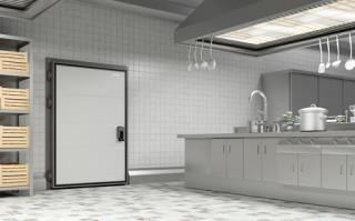 Распашные одностворчатые холодильные двери